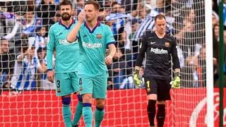 برشلونة يتعثر أمام سوسيداد قبيل مباراة الكلاسيكو